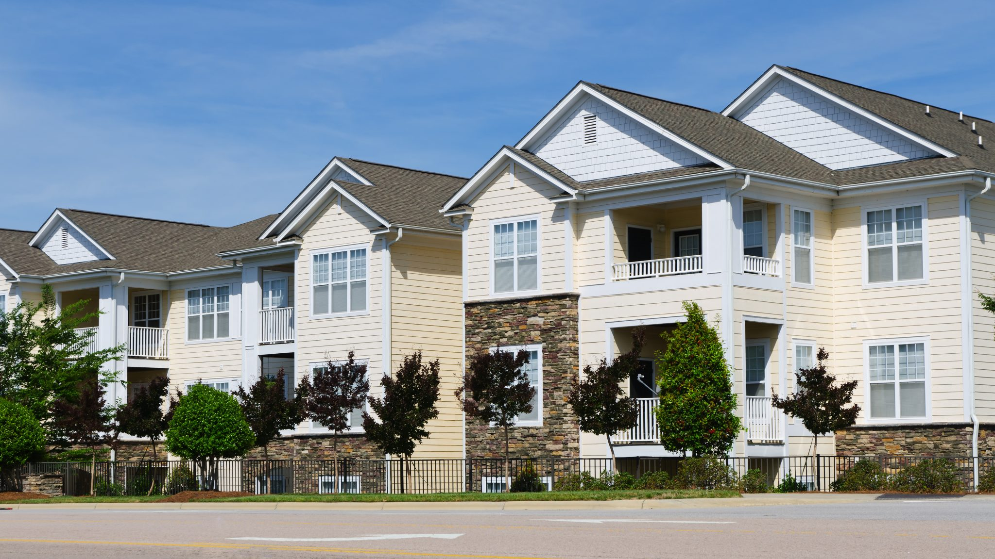 multifamily building in a residential area
